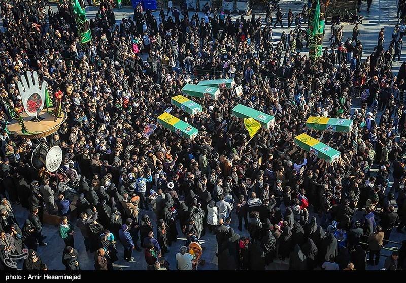 تشییع 7 شهید مدافع حرم تیپ زینبیون و فاطمیون در قم