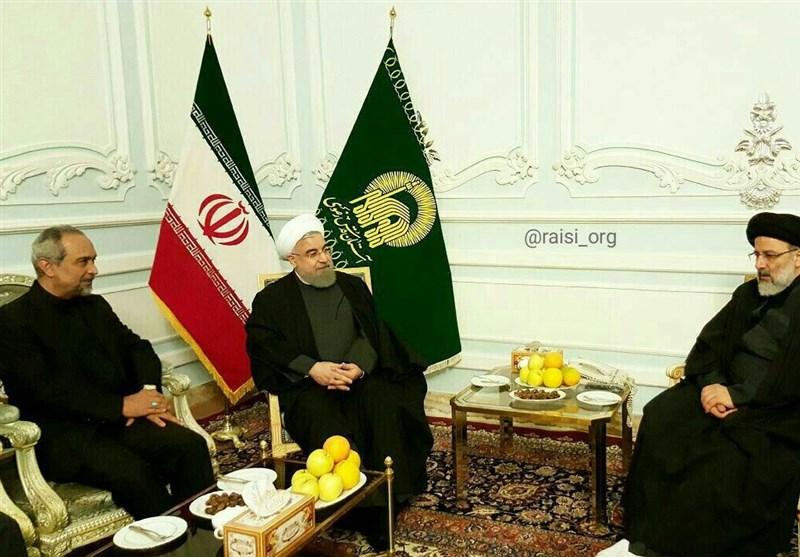 عکس/ دیدار رئیس جمهور با تولیت آستان قدس رضوی