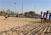 تمرین فوتبال ساحلی