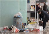 فرودگاه شهر بارسلون در اشغال آشغالها