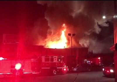 آتشسوزی کارخانه ریسندگی کسری کاشان مهار شد