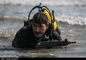 ایرانی فوج کے خصوصی دستوں کی پانی اور خشکی میں مشقیں/ تصویری رپورٹ