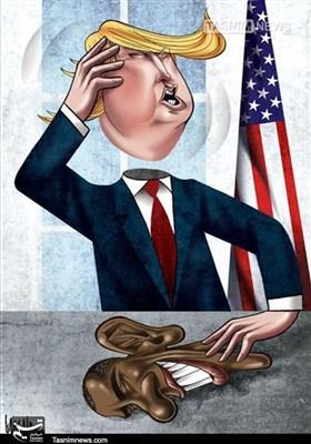 کاریکاتور/ سیاستهای خصمانه آمریکا!!!