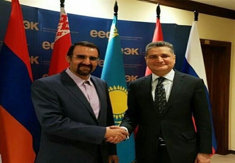 ایران والاتحاد الاقتصادی الاوراسی یبحثان سبل التجارة بینهما