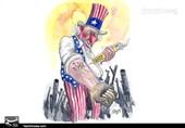 کاریکاتور/ آمریکا، نماد نفرت، وحشت و خشونت