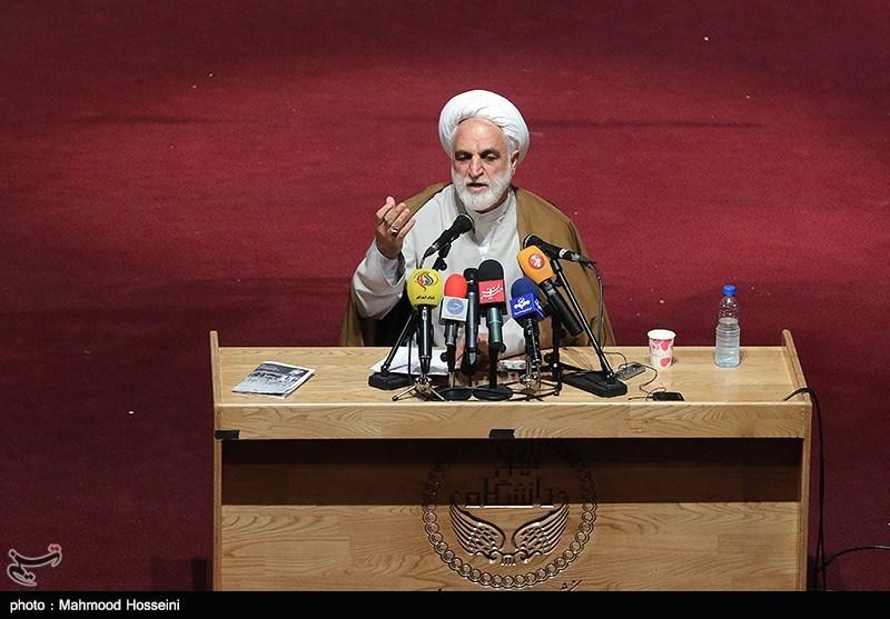 مراسم روز دانشجو با حضور اژه ای معاون اول رئیس قوه قضائیه در دانشکده ادبیات دانشگاه تهران