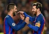 بارسلونا مسی و توران
