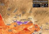 الجیش السوری یشتبک مع داعش قرب حقول غاز حمص + خریطة