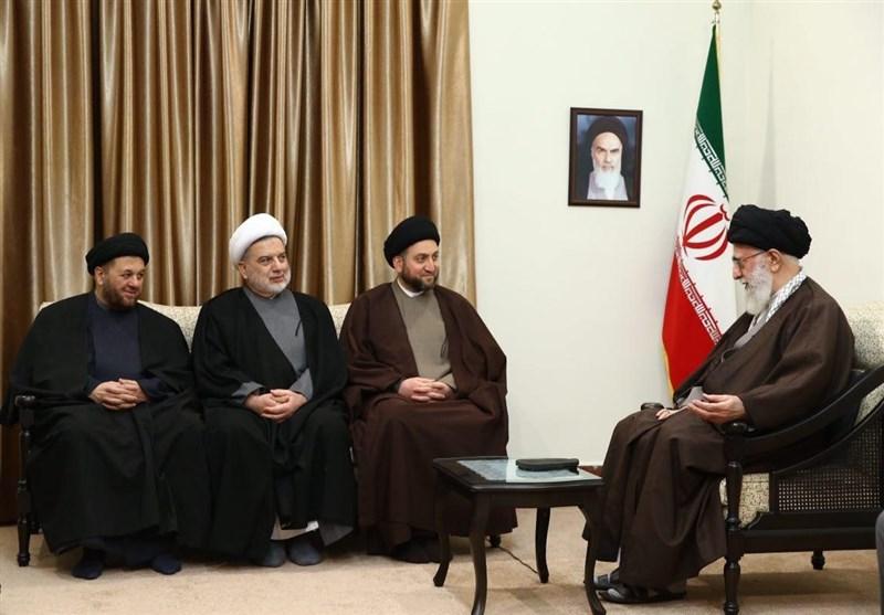 عراقی رہنما حجۃ الاسلام والمسلمین سید عمار حکیم کی امام خامنہ ای سے ملاقات؛