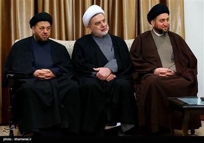 الإمام الخامنئی یلتقی السید الحکیم والوفد المرافق له