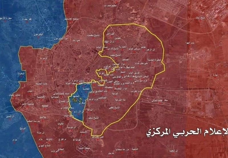 نقشه شرق حلب 98 درصد