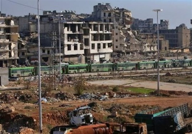 خروج آخرین گروه از تروریستهای بیگانه از حلب/افراد مسلح باقیمانده خود را تسلیم میکنند
