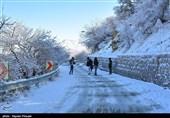 بارش برف در کردستان