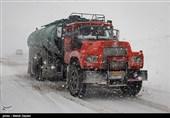 برف و راه بندان در جاده های منتهی به اهر