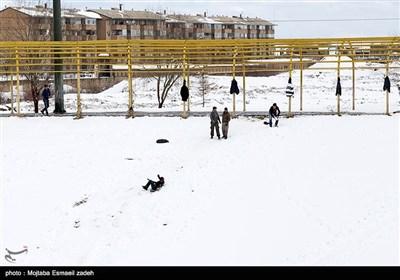 الثلوج فی مدینة ارومیة شمال غربی ایران