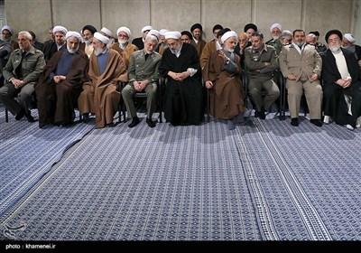 الإمام الخامنئی یستقبل مسؤولی البلاد والسفراء الأجانب وضیوف مؤتمر الوحدة الإسلامیة