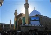 تعویض طلای گنبد حرم امام علی