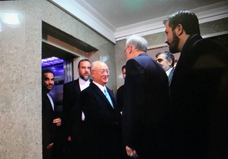 آمانو یلتقی صالحی ویبحث معه تنفیذ الإتفاق النووی