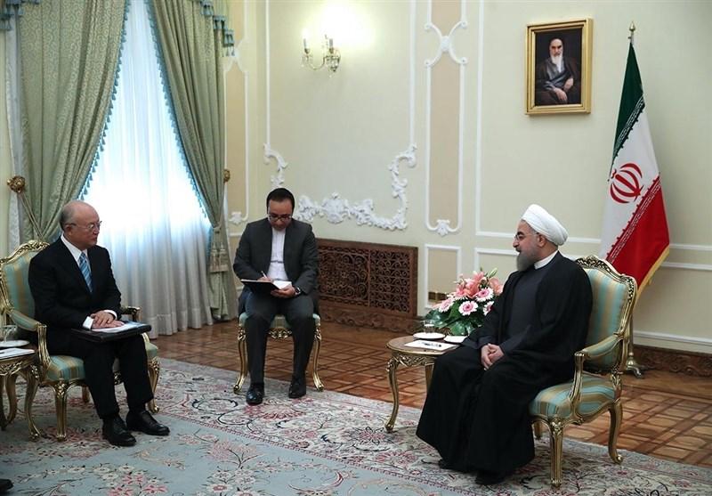 روحانی: استمرار الاتفاق النووی مرهون بالتزام جمیع الاطراف بتعهداتهم