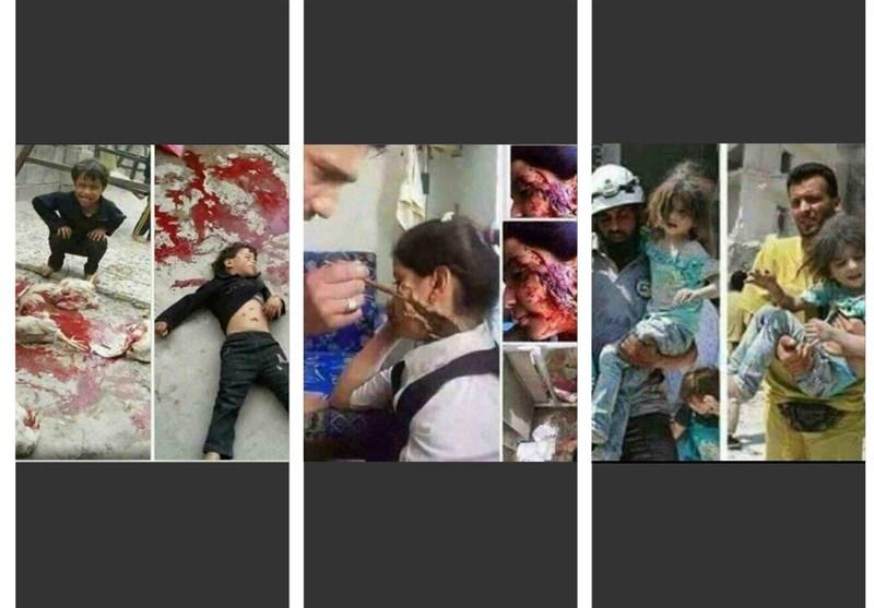 الجزیرہ اور العربیہ سمیت تکفیری نواز حلقوں کا شام مخالف پروپیگنڈا مہم + تصاویر