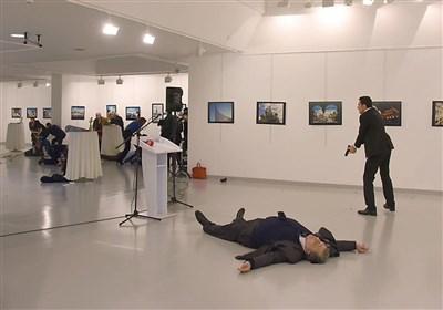 فیلمی جدید از لحظه ترور سفیر روسیه در آنکارا