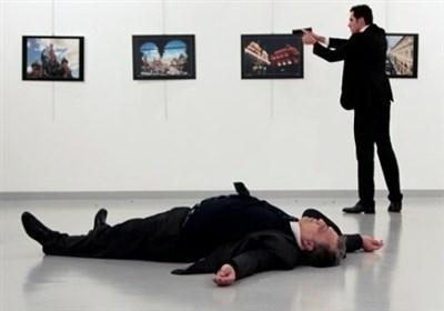 لحظه ترور سفیر روسیه در آنکارا