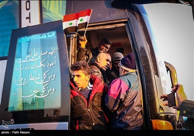 اهالی الفوعة وکفریا یصلون حلب