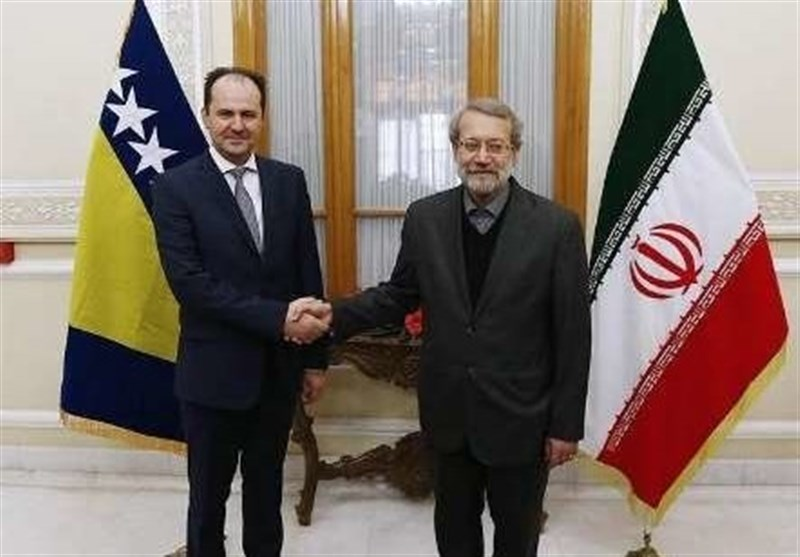 Iranian, Bosnian Parliament Speakers Call for Closer Ties