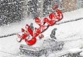 برف و یخبندان مدارس و دانشگاههای اردبیل را تعطیل کرد