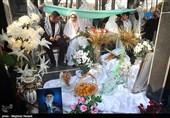 مراسم اهدای جهزیه و عقد زوجهای جوان