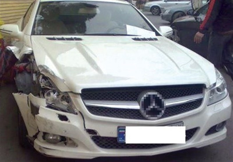تصادف خودرو لوکس 5