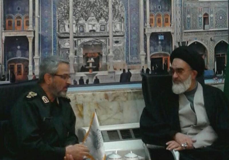 رئیس سازمان بسیج مستضعفین با آیتالله سعیدی دیدار کرد