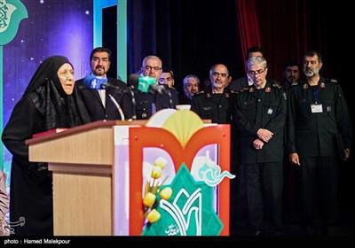 سخنرانی مادر یکی از شهدای فاوا در کنگره سراسری 6500 شهید فاوا دفاع مقدس