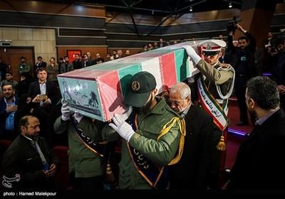 تشییع پیکر دو شهید گمنام دفاع مقدس در کنگره سراسری 6500 شهید فاوا