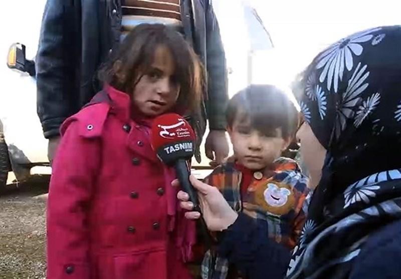 """أطفال الفوعة وکفریا یطالبون العالم عبر """"تسنیم"""" بفک حصار الإرهابیین عنهم"""