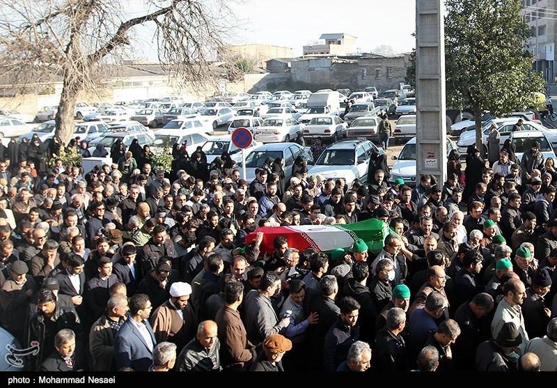 تشییع پیکر جانباز شهید سید مجید حسینی در گرگان