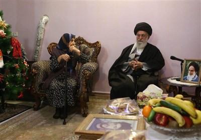 حضور سال گذشته رهبر انقلاب در منزل خانواده شهید مسیحی
