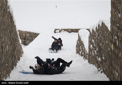 صور رائعة لتساقط الثلوج فی مدینة ارومیة الإیرانیة