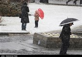 بارش برف در همدان