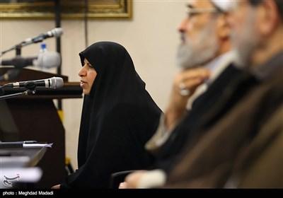 مرضیه وحیددستجردی در نشست اعلام موجودیت جبهه مردمی نیروهای انقلاب اسلامی