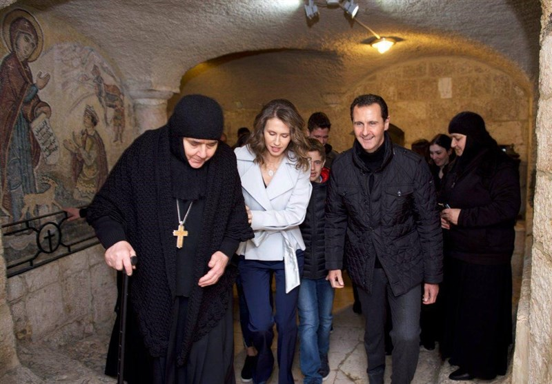 Syrian President Visits Christian Orphanage on Christmas Day
