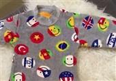 پرچم اسرائیل بر لباس کودکان عربستان