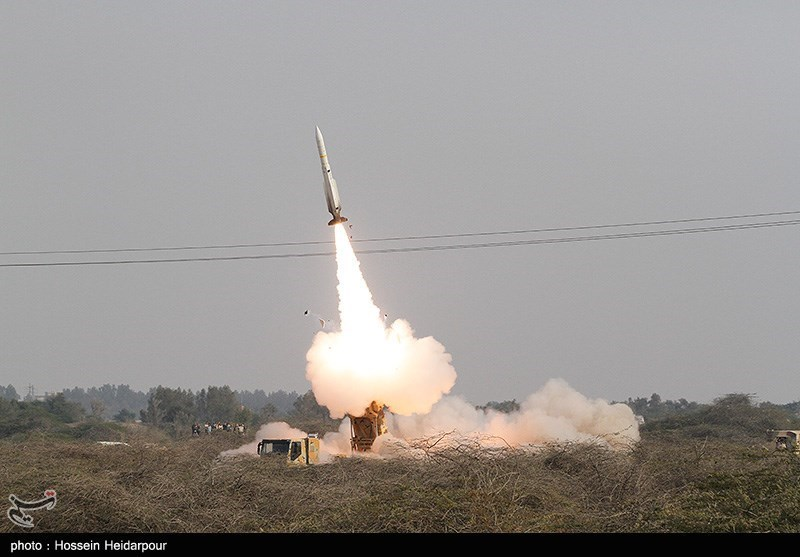شلیک موشک از سامانه موشکی تلاش و سامانه s200