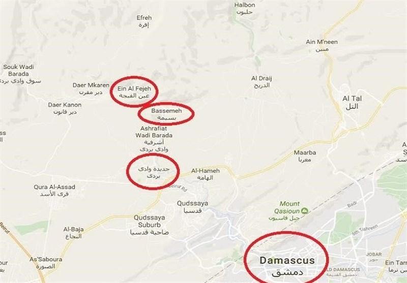 نقشه وادی بردی دمشق
