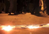 Bahrainis Stage Anti-Zionist Protest, Setting Israeli Flag on Fire