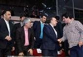حضور وزیر ورزش و جوانان و رئیس کمیته ملی المپیک در سالن رقابتها