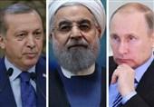 حسن روحانی، پیوٹن اور رجب طیب اردوگان کے درمیان جلد ملاقات کا امکان