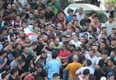 وداع فلسطینیان با شهدای قدس