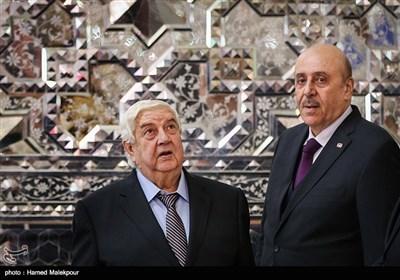 تقریر مصور للقاء على لاریجانی وولید المعلم