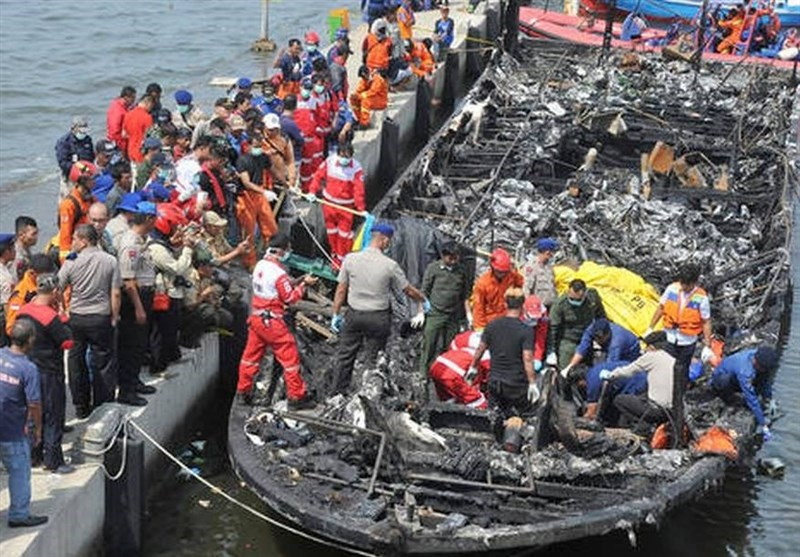 Indonesian Ferry Catches Fire, 23 Dead